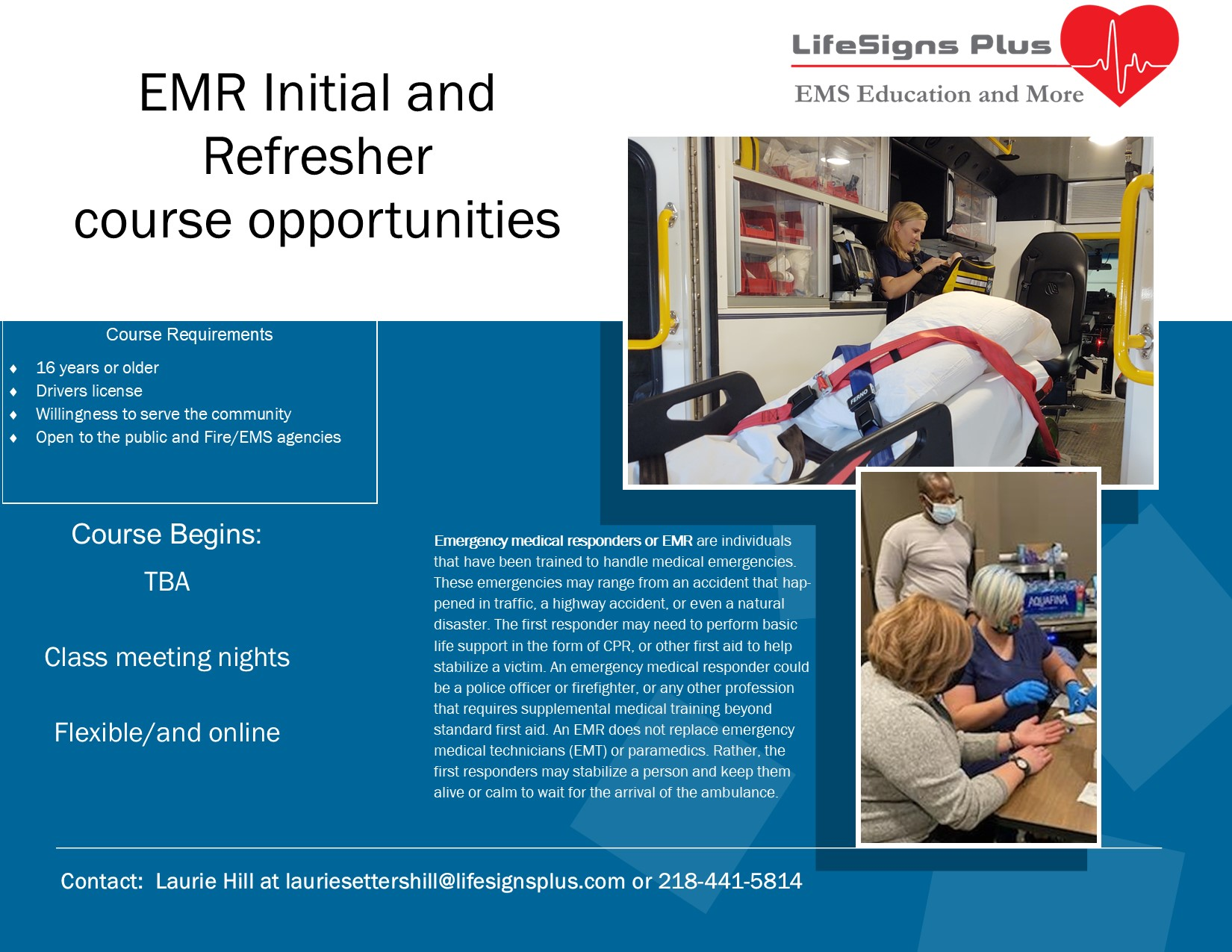 EMR inital and refresher fall 2021